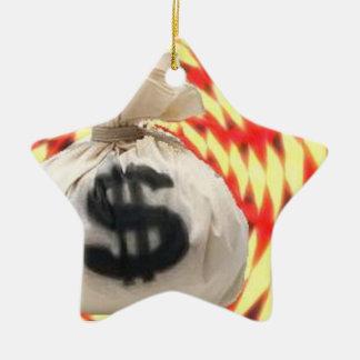 Money bags ceramic ornament
