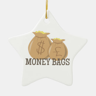 Money Bags Ceramic Ornament