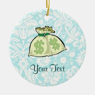 Money Bags; Cute Ceramic Ornament