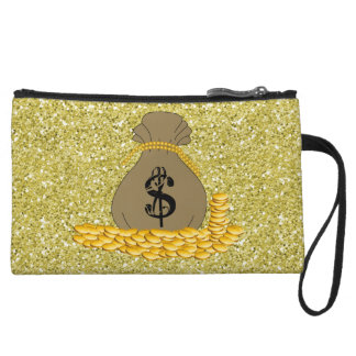 Money Bags Gold Faux Glitter