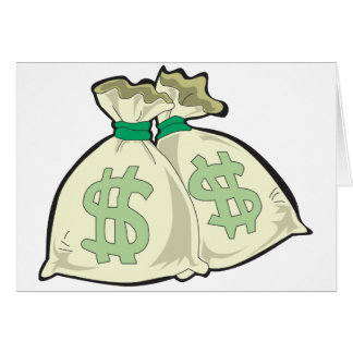 Money Bags Greeting Cards