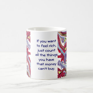 money can't buy coffee mug