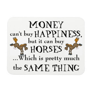 Money Can't Buy Happiness - Horse Lover's Magnet