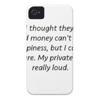 Money Can't Buy Happiness Private Jet iPhone 4 Cases