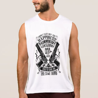 Money can't buy you Happiness but Guns&Ammo Tank Top