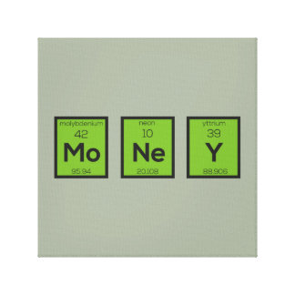 Money Chemical Element Funny Z3z08 Canvas Print