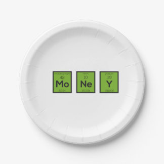 Money Chemical Element Funny Z3z08 Paper Plate
