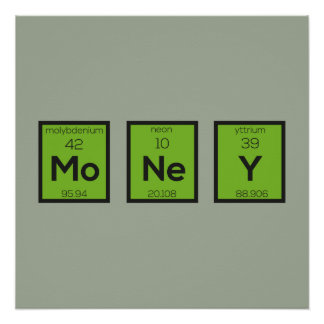 Money Chemical Element Funny Z3z08 Perfect Poster