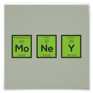 Money Chemical Element Funny Z3z08 Photo Print