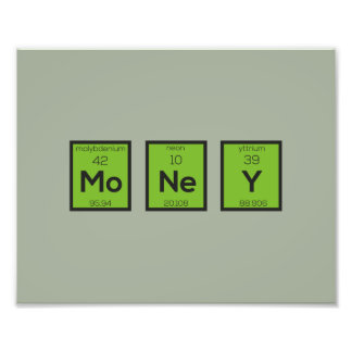 Money Chemical Element Funny Z3z08 Photographic Print