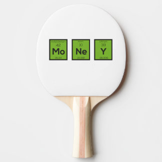 Money Chemical Element Funny Z3z08 Ping Pong Paddle