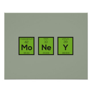 Money Chemical Element Funny Z3z08 Poster