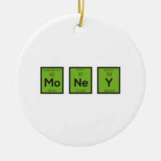 Money Chemical Element Funny Z3z08 Round Ceramic Ornament