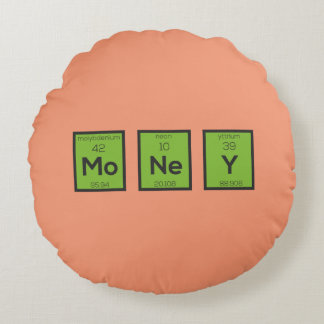 Money Chemical Element Funny Z3z08 Round Pillow