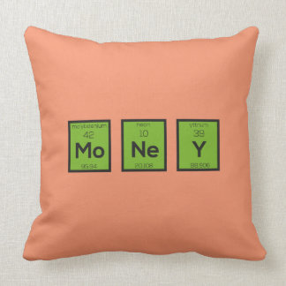 Money Chemical Element Funny Z3z08 Throw Pillow