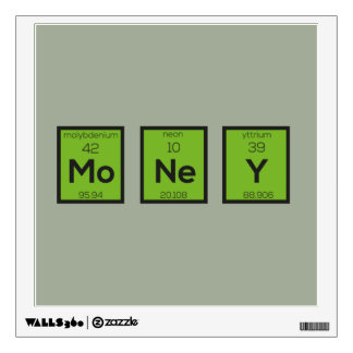 Money Chemical Element Funny Z3z08 Wall Decal