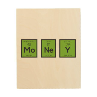 Money Chemical Element Funny Z3z08 Wood Canvas