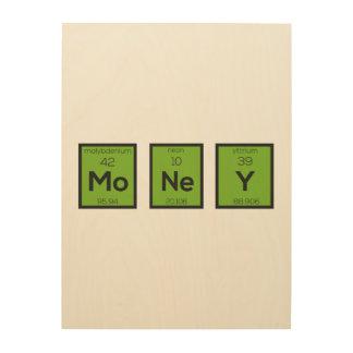 Money Chemical Element Funny Z3z08 Wood Print