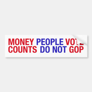 Money Counts Bumper Sticker