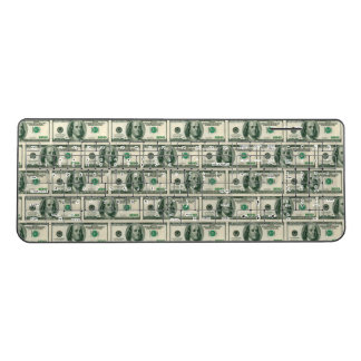Money covered wireless keyboard