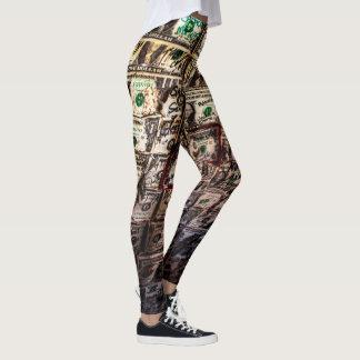 Money Dollar Bill Leggings