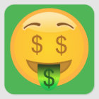 Money Emoji Square Sticker