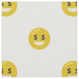 money eye emoji fabric