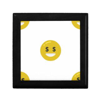money eye emoji gift box