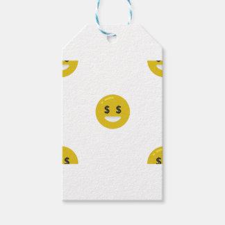 money eye emoji gift tags