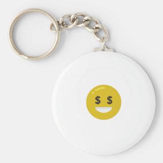 money eye emoji keychain