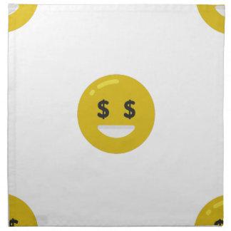 money eye emoji napkin