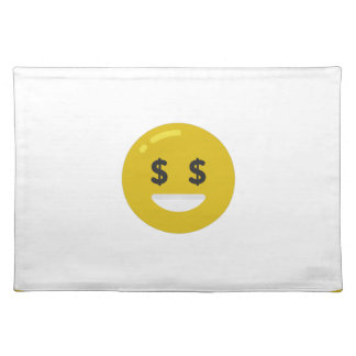 money eye emoji placemat