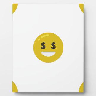 money eye emoji plaque
