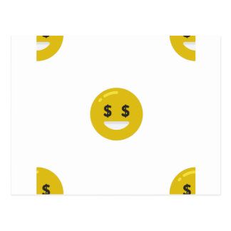 money eye emoji postcard