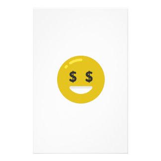 money eye emoji stationery