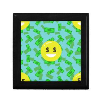 money eyed emoji gift box