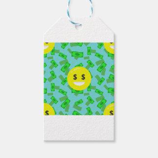 money eyed emoji gift tags