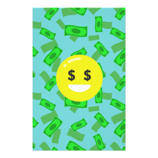 money eyed emoji stationery