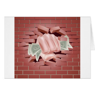 Money Fist Punching Through Wall Card