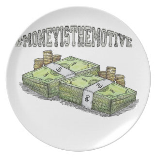 Money is the Motive Collection Party Plate