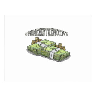 Money is the Motive Collection Postcard