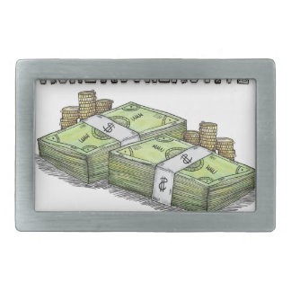 Money is the Motive Collection Rectangular Belt Buckle