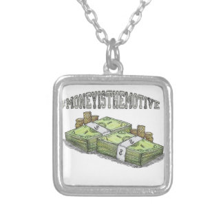 Money is the Motive Collection Silver Plated Necklace