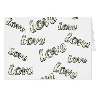 Money love pattern card