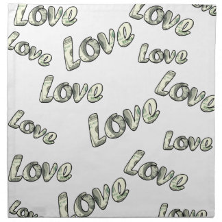 Money love pattern napkin
