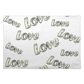 Money love pattern placemat