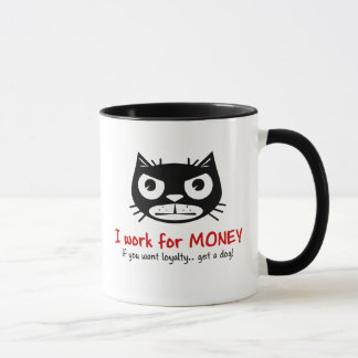 Money & Loyalty Grumpy Cat mug