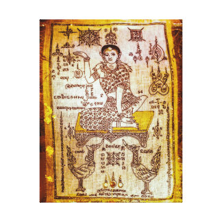 Money Luck Goddess Canvas Print
