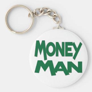 Money Man Basic Round Button Keychain