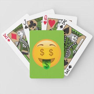Money Man Emoji Bicycle Playing Cards